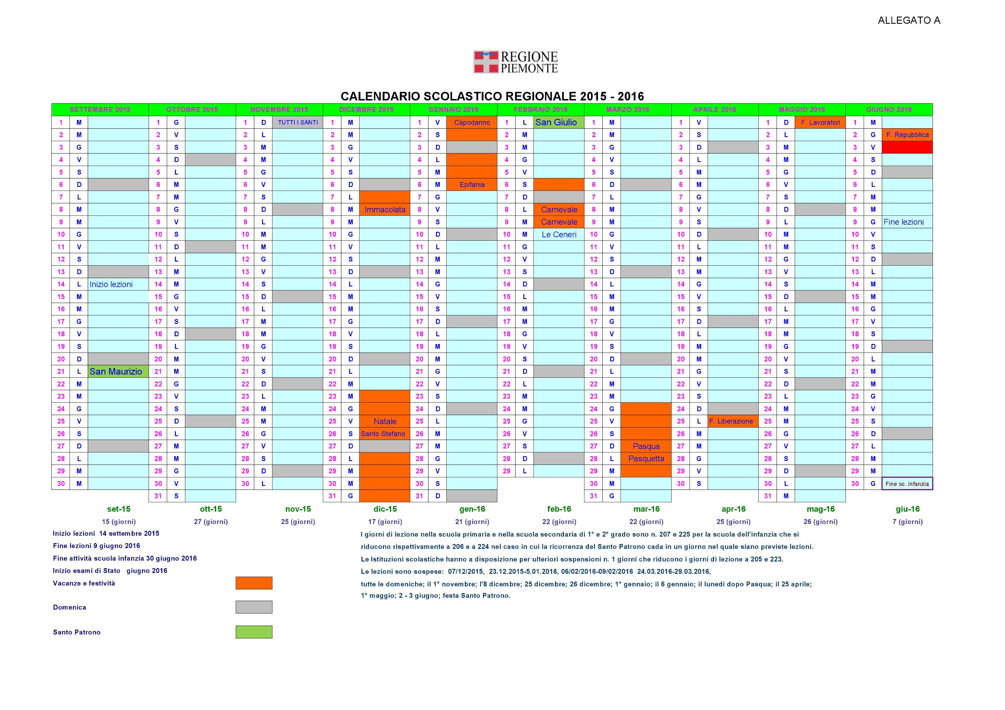 Istituto Comprensivo San Giulio » Calendario scolastico